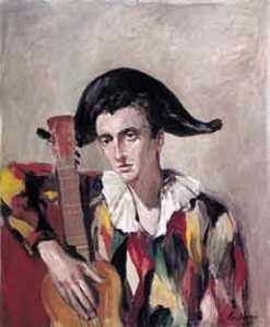 """""""Arlequín"""" de J.M. Serrano, en la pasada monográfica de la galería Fernando Pinós"""